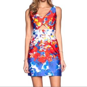 Milly colorful brushstroke abstract dress -sz 8